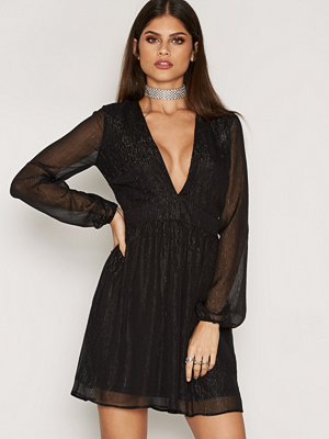 NLY Trend Awake Glitter Dress Svart
