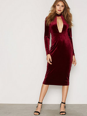Glamorous Cut Out Velvet Dress