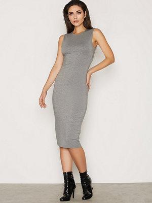 T By Alexander Wang Modal Backslits Dress Heather Grey