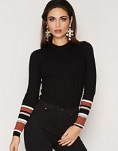 New Look Ribbed Stripe Sleeve Jumper