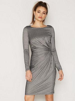 Vero Moda Vmmoon Knot L/S Short Dress Nfs Svart