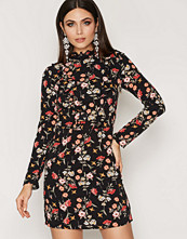 Miss Selfridge Floral High Neck Ruffle Dress