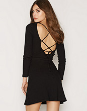 Topshop Lace Up Skater Dress