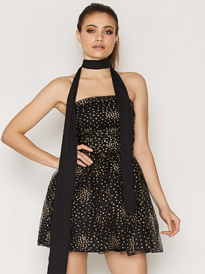 Motel Sisley Prom Dress Gold Glitter