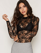 Toppar - NLY Trend Turtleneck Lace Top