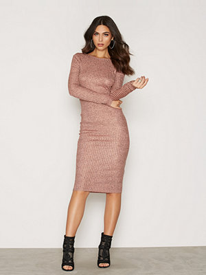 NLY Trend Low Back Luxury Dress Copper