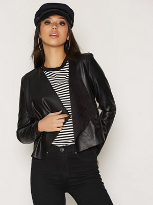 Vero Moda Vmedit Short Pu Jacket Svart