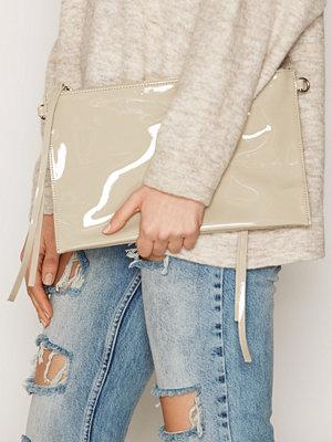 BACK omönstrad kuvertväska Zip Bag Patent Khaki