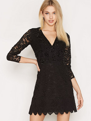 French Connection Emmie Lace Black