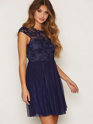 NLY One Follow Me Lace Dress Navy