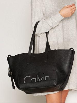 Calvin Klein Re-Issue # Tote Pu Svart