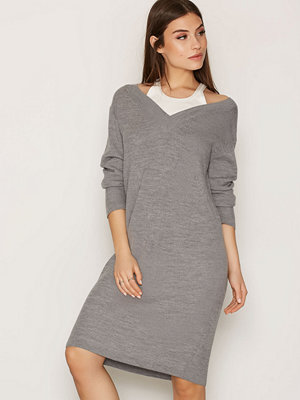 T By Alexander Wang Merino Pullover Dress Heather Grey