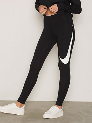 Leggings & tights - Nike Nsw Lggng Club Swsh Svart/Vit
