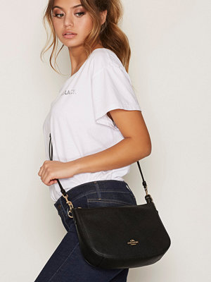 Coach Polished Pebble Lthr Chelsea Crossbody Svart axelväska