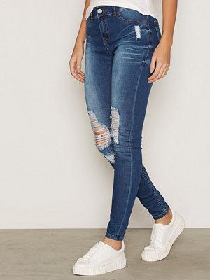 Jeans - Sweet Sktbs Sweet Super Skinny Ripped Blue