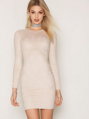 NLY Trend Suede Dress Light Beige