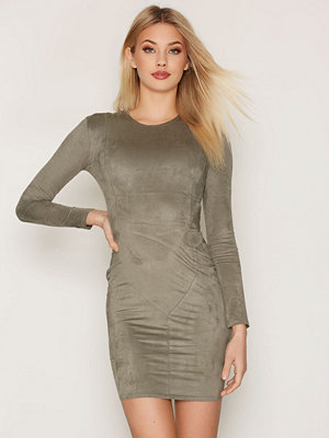 NLY Trend Suede Dress Khaki