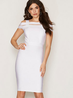 Wow Couture Strap Bardot Bandage Dress