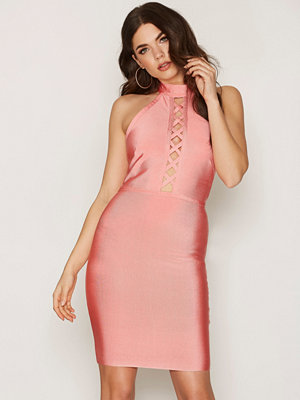 Wow Couture Front Strap Mini Dress Salmon