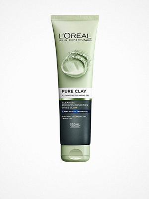 Ansikte - L'Oréal Paris Pure Clay Illuminating Cleansing Gel 150 ml Charcoal