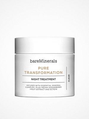 Ansikte - bareMinerals Pure Transformation Night Treatment Transparent