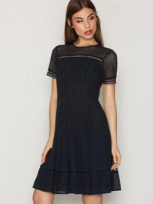 MICHAEL Michael Kors Eyelet Mix S/S Dress Navy
