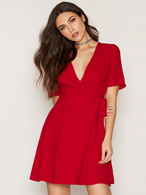 New Look Plain Crepe Wrap Tie Dress