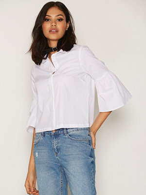 New Look Bell Sleeve Shirt White