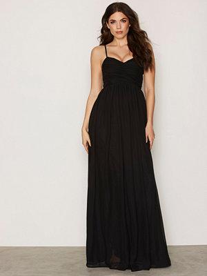 NLY Eve Wrap Bust Long Dress Svart