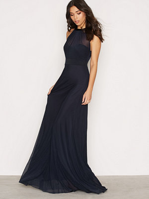 NLY Eve Seethrough Bow Gown Navy