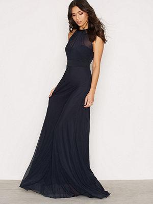 Festklänningar - NLY Eve Seethrough Bow Gown Navy