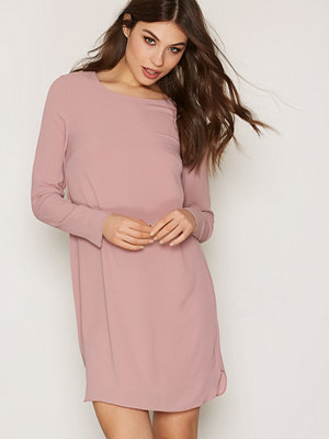 NLY Trend Long Sleeve Shift Dress Ljus Rosa