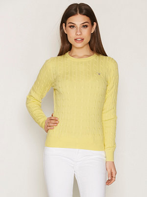 Gant Stretch Cotton Cable Crew Light Yellow