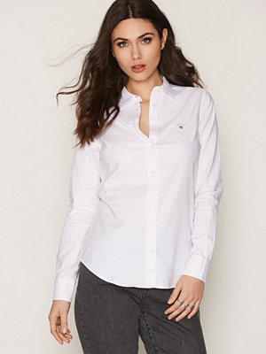 Gant Stretch Oxford Shirt White