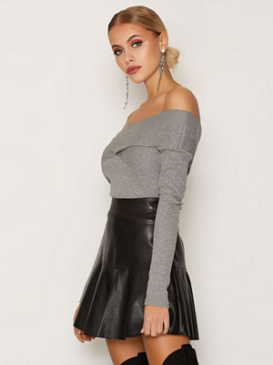Miss Selfridge Long Sleeve Bardot Top