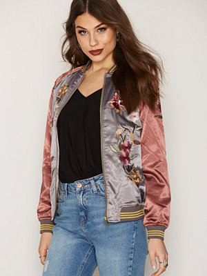 Miss Selfridge Floral Bomber Jacket