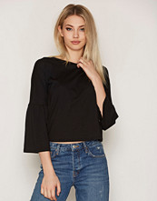 Topshop Crew Neck Trumpet Sleeve Top