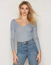 Topshop Long Sleeve Wrap Rib Body