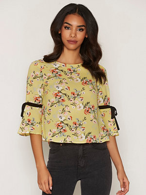 Miss Selfridge Tie Sleeve T-Shirt