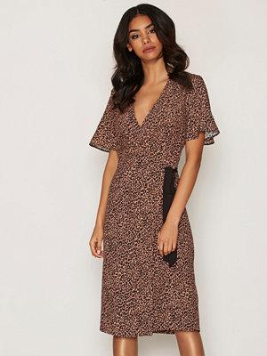 Miss Selfridge Print Wrap Midi Dress Multi