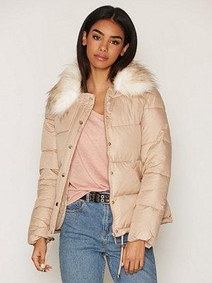 Miss Selfridge Puffer Coat Beige