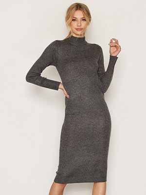 Vila Vigujo Knit Dress Mörk Grå