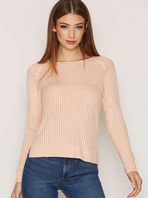 Only onlROSE Rib L/S Pullover Knt Noos Ljus Rosa