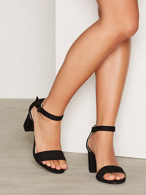 NLY Shoes Block Mid Heel Sandal Svart