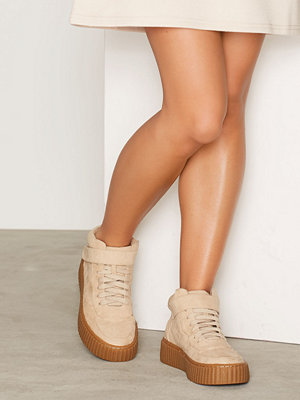 NLY Shoes High Top Flatform Sneaker Beige Mist
