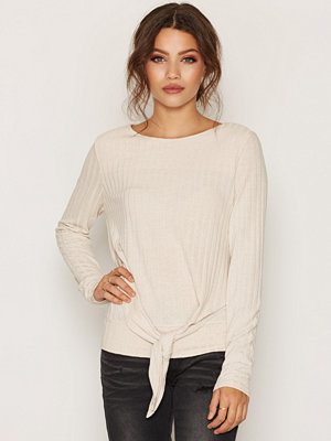 Only onlREGINA L/S Knot Pullover Knt Beige