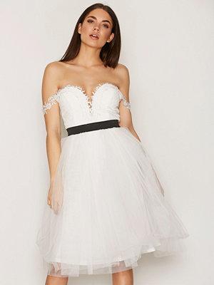 Rare London Crochet Bardot Prom Dress White
