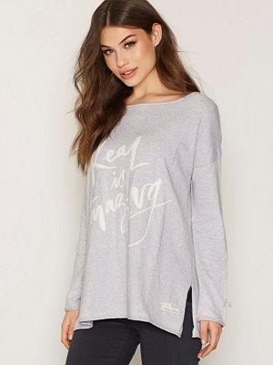 Odd Molly Sizzling Sweater Light Grey Melange