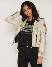 Glamorous Embroidered Biker Jacket