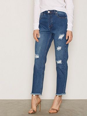 Glamorous Ripped Jeans Mid Blue